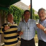 Simon with Jim and Richard the winemaker at Chaeteau Chaintres