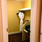 Large closet with vanity