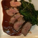 Duck with kale