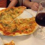 the pesto pizza and house wine... DELICIOUS.
