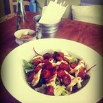 Warm chorizo & mozzarella salad