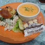 Lobster stew with shrimp salad