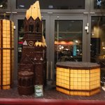 The bombarded church in chocolate