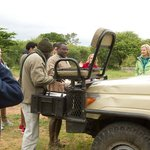 Tea and coffee break during our morning game drive
