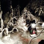 snowmobile tour in the woods - exhilerating Fun!