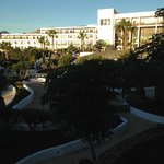The hotel facing the pool/bar and beach