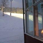 Ski Slope from Hotel rear entrance