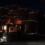 Beautiful Luminarias - Entrance to Loretto Inn December 2013