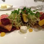 roasted red and yellow beet salad