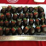 Chocolate Strawberries at Reception