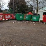 Playpark / bins area - the two are combined