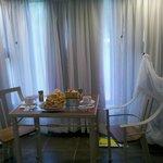 Habitación con desayunador