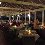 Evening BBQ dining, near the pool