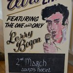 Promotional poster used by Larry Bogan (owner of the B&B)