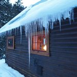 Outside the Cottonwood cabin