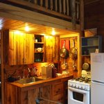 Kitchen in the Cottonwood cabin