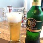 Une bonne bière Tsing Tao avec le repas !