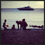 Fun on the beach at Carlisle Bay