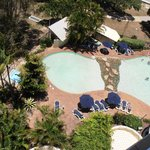 view of pool from 7th floor North Tower room 62