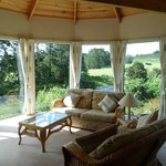 Lounge and views in the Cottage