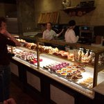 Delicious sandwiches and pastries.
