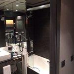 The modern bathroom, decent sized bath after a long days skiing, a powerful shower, big sink, bd