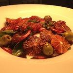 Blood orange and radish salad