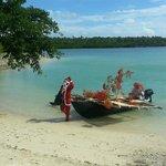 Santa comes to Aquana on Christmas Day