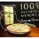 100% Menorca mozzarela in all our pizzas