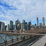 Half Way across - View of Manhattan Skyline