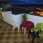 terraza del hostal   hermoso mirador