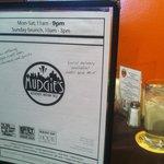 Mudgie's menu