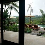 View from the room overlooking pool