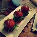 Mini hamburger délicieux