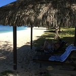 Private beach hut