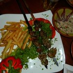 Lamb shashlik main dish - tneder, juicy & tasty