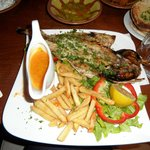 The grilled fish main dish