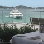 View from my table at Fish Restaurant, Hilton Hotel, Auckland