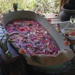 Indonesian fruit soaking tub...incredible!