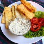Local cheese w/ garlic