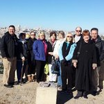 ESG Methodist group above the Mt. of Olives