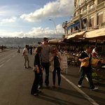 On the promenade in front of Gusto & Gusto