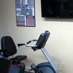 Very nice workout room with TV