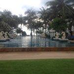 main pool looking on to beach