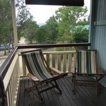 Seats on the veranda of Foresters Hut, Mt Barney Lodge