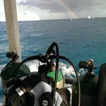My gear on the boat ready to dive!