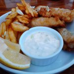 Beer battered Fish n' Chips...crunchy and light...