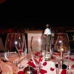 Our table at Terasa U Zlate Studne overlooking Prague