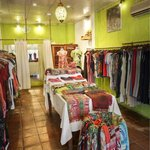 inside view of the beautiful garments available in this boutique