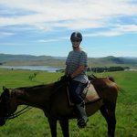 A horse ride enables you to enjoy stunning vistas